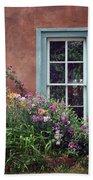 Flowers By The Window Beach Towel