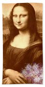 Flowers For Mona Lisa Beach Towel