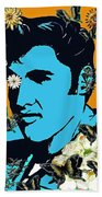 Flowers For The King Of Rock And Roll Beach Towel