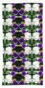Flowers From Cherryhill Nj America White  Purple Combination Graphically Enhanced Innovative Pattern Beach Towel