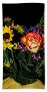 Flowers From The Heart Beach Towel