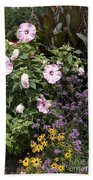 Flowers In A Garden Beach Towel