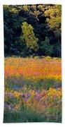 Flowers In The Meadow Beach Sheet