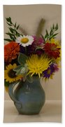 Flowers In Vase Beach Towel
