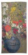 Flowers Beach Towel by Odilon Redon