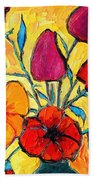 Flowers Of Love Beach Towel by Ana Maria Edulescu