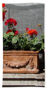 Flowers Of New York Beach Towel