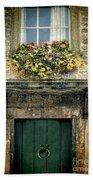 Flowers Over Doorway Beach Sheet