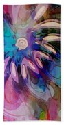 Flowery Illusion Beach Towel