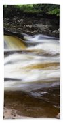 Flowing And Cascading At The Falls Of Dochart - Killin Scotland Beach Towel