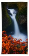 Flowing Into Fall Beach Towel