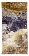 Flowing River Rapids Beach Towel