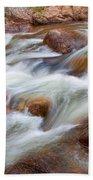 Flowing St Vrian Creek   Beach Towel