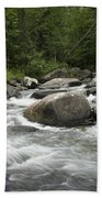 Flowing Stream In Vermont Beach Towel