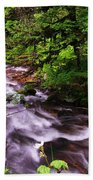 Flowing Through The Forest Beach Towel