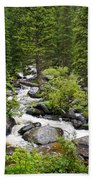 Fluid Motion - Crazy Woman Canyon - Crazy Woman Creek - Johnson County - Wyoming Beach Towel