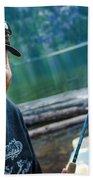 Fly Fishing Emerald Lake, Weminuche Beach Towel