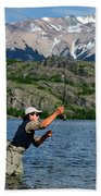 Fly Fishing In Patagonia Beach Towel