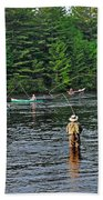 Fly Fishing West Penobscot River Maine Beach Towel