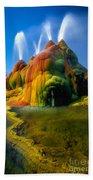Fly Geyser Travertine Beach Towel