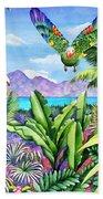Flying Colours Beach Towel by Carolyn Steele