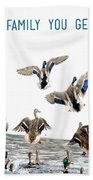 Flying Ducks And A Friends Quote Beach Towel