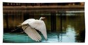 Flying Egret Beach Towel