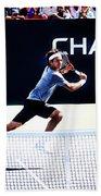 Flying Federer  Beach Towel
