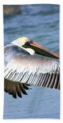 Flying Florida Pelican Beach Towel