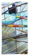 Flying Inside Ferris Wheel Beach Towel