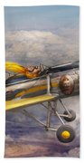 Flying Pig - Plane - The Joy Ride Beach Towel by Mike Savad