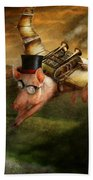Flying Pig - Steampunk - The Flying Swine Beach Towel