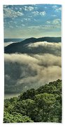 Fog In The Grand View Valley Beach Towel