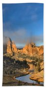 Fog Over Smith Rock Beach Towel