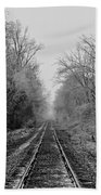 Foggy Ending In Black And White Beach Towel