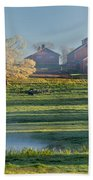 Foggy Farm Morning Beach Sheet