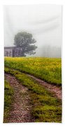 Foggy Morning Beach Towel by Bob Orsillo