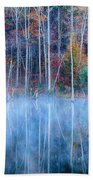 Foggy Morning Reflections Beach Towel