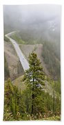 Foggy View From Icefields Parkway Beach Towel