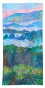 Foggy View From Mill Mountain Beach Towel
