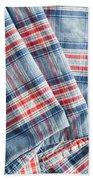 Folded Fabric Beach Towel