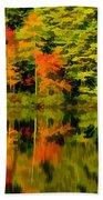 Foliage In New Hampshire Beach Towel