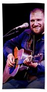 Folk Musician David Bazan In Concert Beach Towel
