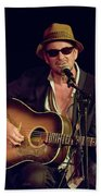 Folk Singer Greg Brown Beach Towel