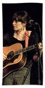 Folk Singer Pieta Brown Beach Towel