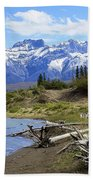 Following The Athabasca River Beach Towel