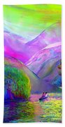 Love Is Following The Flow Together Beach Towel