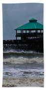 Folly Beach Pier During Sandy Beach Towel