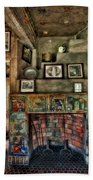 Fonthill Castle Bedroom Fireplace Beach Towel