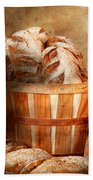 Food - Bread - Your Daily Bread Beach Towel by Mike Savad